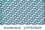 turquoise realistic rattan... | Shutterstock .eps vector #1197424639