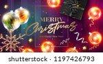 merry christmas vector card.... | Shutterstock .eps vector #1197426793
