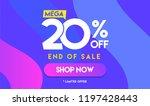 20 percent mega discount sale... | Shutterstock .eps vector #1197428443
