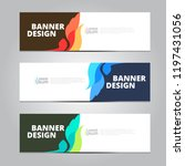 vector abstract design banner... | Shutterstock .eps vector #1197431056