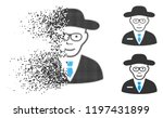 scientist icon with face in... | Shutterstock .eps vector #1197431899