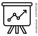 poster presentation line vector ... | Shutterstock .eps vector #1197432730
