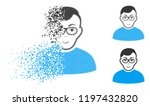 nerd man icon with face in... | Shutterstock .eps vector #1197432820