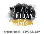 black friday sale banner.... | Shutterstock .eps vector #1197433189