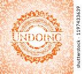 undoing orange mosaic emblem   Shutterstock .eps vector #1197433639