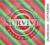 survive christmas badge... | Shutterstock .eps vector #1197433840