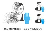 elector icon with face in... | Shutterstock .eps vector #1197433909