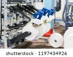 automatic packing machine with... | Shutterstock . vector #1197434926