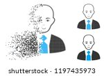 bald boss icon with face in... | Shutterstock .eps vector #1197435973