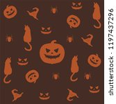 halloween seamless pattern.... | Shutterstock .eps vector #1197437296