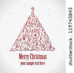 beautiful christmas tree... | Shutterstock .eps vector #119743843