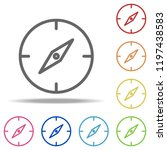 compass icon. elements of...