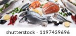 fresh fish and seafood. healthy ... | Shutterstock . vector #1197439696