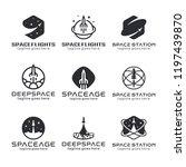 rocket logo  space emblems ... | Shutterstock .eps vector #1197439870