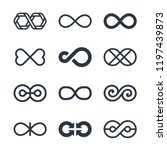 infinity vector symbols and... | Shutterstock .eps vector #1197439873
