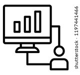 web analytics is showing web... | Shutterstock .eps vector #1197441466