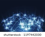 global network connection.... | Shutterstock .eps vector #1197442030