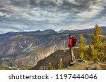 young man traveler relaxing... | Shutterstock . vector #1197444046