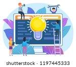 idea for web business concept....   Shutterstock .eps vector #1197445333
