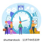 time management concept. small...   Shutterstock .eps vector #1197445339