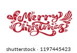 merry christmas red vintage... | Shutterstock .eps vector #1197445423