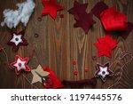 wooden background and handmade... | Shutterstock . vector #1197445576