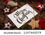 happy new year lettering on a... | Shutterstock . vector #1197445579