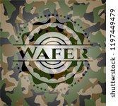 wafer camouflage emblem | Shutterstock .eps vector #1197449479