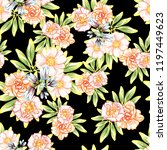 abstract seamless pattern with... | Shutterstock .eps vector #1197449623