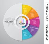 5 steps cycle infographics... | Shutterstock .eps vector #1197450019