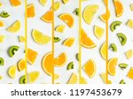 collage of fruits. citrus....   Shutterstock . vector #1197453679