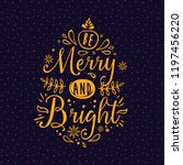 merry christmas. typography.... | Shutterstock .eps vector #1197456220