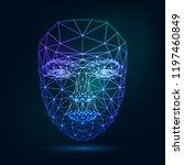 human face  triangular glowing... | Shutterstock .eps vector #1197460849