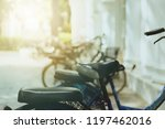 set of bicycles available to... | Shutterstock . vector #1197462016