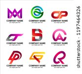 letter combination logo... | Shutterstock .eps vector #1197464326