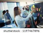 business meeting concept.... | Shutterstock . vector #1197467896