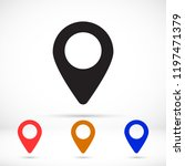 vector icon search map 10 eps   Shutterstock .eps vector #1197471379
