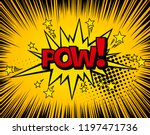 background with boom comic book ... | Shutterstock .eps vector #1197471736