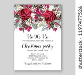 peony christmas party... | Shutterstock .eps vector #1197477526