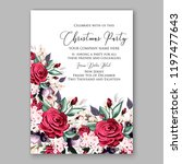 peony christmas party... | Shutterstock .eps vector #1197477643