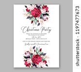 peony christmas party... | Shutterstock .eps vector #1197477673