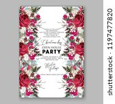 peony christmas party... | Shutterstock .eps vector #1197477820