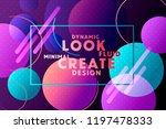 colorful geometric background.... | Shutterstock .eps vector #1197478333