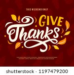 thanksgiving day sale web... | Shutterstock .eps vector #1197479200
