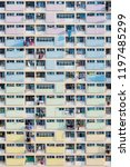public estate in hong kong city | Shutterstock . vector #1197485299