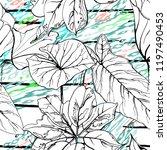 tropical  stripe  animal motif. ...   Shutterstock .eps vector #1197490453