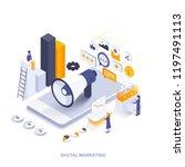modern flat design isometric...   Shutterstock .eps vector #1197491113
