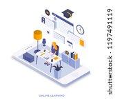 modern flat design isometric... | Shutterstock .eps vector #1197491119
