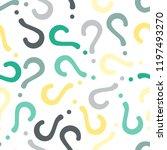 quiz seamless pattern. question ...   Shutterstock .eps vector #1197493270