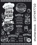bagel menu template for... | Shutterstock .eps vector #1197497710